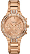 Caravelle New York Womens Chronograph Stainless Steel Case and Bracelet Rose Gold Watch - 44L180