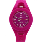 Toy Watch Women's 40mm Pink Silicone Band Steel Case Quartz Analogue Watch JL04PS