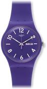 Swatch Backup Purple Purple Dial Purple Silicone Rubber Unisex Watch SUOV703 ...