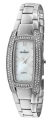 Peugeot Women's 7013S Silver-Tone Crystal Accented Bracelet Watch