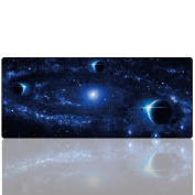 Cmhoo Large Mouse Pad Gaming Extended Black & Desk Mat Protector Stickers 35.4 x 15.7
