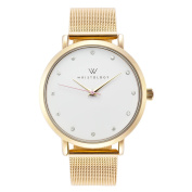 WRISTOLOGY Olivia crystal Gold womens watch with 18mm gold metal mesh interchanageable watch band OC028