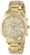 Caravelle New York Womens Chronograph Stainless Watch - Gold Bracelet - Gold Dial - 44L118