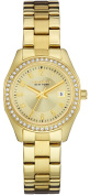 Caravelle New York Womens Stainless Steel Case and Bracelet Gold Dial Gold Watch - 44M108