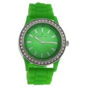2032L-GN Green Silicone Strap Watch