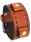 Nemesis #BN-B Brown Wide Leather Cuff Wrist Watch Band