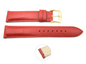 Quick Release 18mm Red Leather Smooth Watch Band - Interchangeable Womens Watch Straps