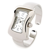 Silver Melting Shape Case Small Size Women's Bangle Cuff Watch