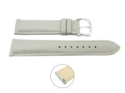Quick Release 20mm Grey Leather Smooth Watch Band - Interchangeable Womens Watch Straps