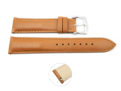 Quick Release 18mm Tan Leather Smooth Watch Band - Interchangeable Womens Watch Straps