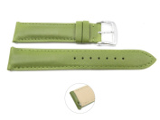 Quick Release 18mm Green Leather Smooth Watch Band - Interchangeable Womens Watch Straps
