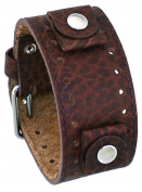 Rev #RIV-BB Riverside Buffalo Italian Design 22mm Distressed Brown Wide Leather Cuff Band