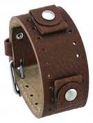 Rev #RIV-TB Riverside Buffalo Italian Design 22mm Distressed Tan Brown Wide Leather Cuff Band