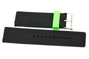 26MM BLACK GREEN SMOOTH RUBBER SPORT DIVER WATERPROOF WATCH BAND STRAP FIT INVICTA