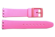 Swatch Replacement Pink 17mm Plastic Watch Band Fits Original Gents and Lady Models