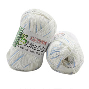 HLHN Bamboo Cotton Warm Soft Natural Knitting Crochet Knitwear Wool Yarn 50g