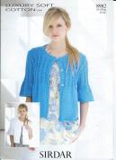 Sirdar Knitting Pattern 8982 Ladies Cardigan