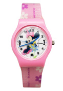 Disney's Minnie Mouse Pink Floral Gel Band Kids Watch