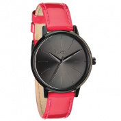 Nixon Kensington Black Dial Pink Patent Leather Ladies Watch A1081394