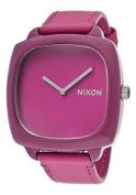 Nixon Purple Dial Stainless Steel Leather Quartz Ladies Watch A167-698