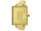 Nixon A273-502 Tahlia Women's Gold Leather Bracelet With Gold Dial Watch NWT
