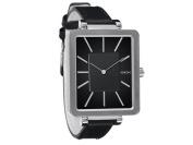 Nixon A273-000 Tahlia Women Black Leather Bracelet With Black Analogue Dial Watch