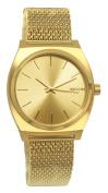 Nixon A1187502 Time Teller Milanese Gold Steel Watch