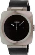 Nixon Men's Volta A117000 Black Leather Analogue Quartz Watch