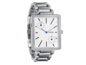 Nixon A024-100 Women's Silver Steel Bracelet With White Analogue Dial Watch NWT