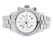 Breitling Breitling A13370 Super Avenger White Dial Stainless Steel with Diamonds