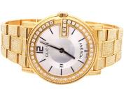 Gucci Yellow Gold YA101306 40 MM Full Diamond Custom Gucci Watch 7 Ct