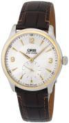 Oris Artelier Manual Wind Steel & Gold Mens Strap Watch 396-7580-4351-LS