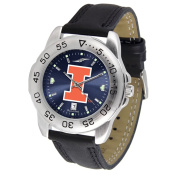 "Illinois Fighting Illini NCAA AnoChrome ""Sport"" Mens Watch"