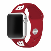 WATCH BAND ONLY - University of Wisconsin Badgers Silicone Sport Band fits on 42mm Apple Watch.