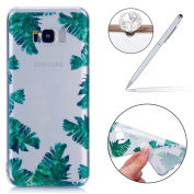 Galaxy S8 Plus Case Clear,Galaxy S8 Plus Gel Cover Case,Galaxy S8 Plus Case Silicone Gel Cover, Felfy Varnish Technology Embossed Colourful Painting Luxury Soft TPU Silicone [Anti-Scratch]+[Abrasion Resistance]+[Drop Protection] with Stylish Flamingo F ..