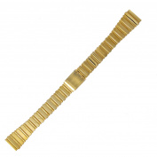 Hadley Roma LB5591Y 14mm Gold Tone Straight End Link Ladies Watch Band