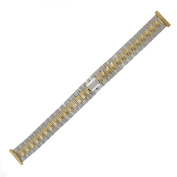 Hadley Roma LB5323T 16mm Two Tone Stainless Ladies Link Watch Band