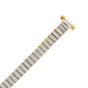 """Hadley Roma LB6121Y 8-11mm Bracelet Watch Band Gold Tone Expansion 5 7/8"""""""