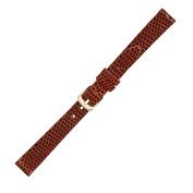 Hadley Roma LS700 13mm Regular Tan Genuine Java Lizard Ladies Watch Band