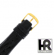 Hadley Roma MS973 19mm Mens Regular Black Genuine Lizard Watch Strap