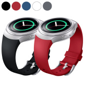 EEEKit for Samsung Gear S2 (SM r720 Version ONLY) Smartwatch, 2 Packs Silicone Watch Band Bracelet Strap