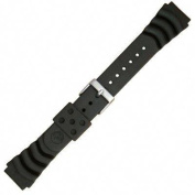 genuine synthetic rubber black monster diver 20mm watch strap by seiko