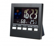PRDX New Type Temperature and humidity metre Indoor and outdoor Temperature and humidity metre Multi-function Hygrometer with Backlight, Voice operated function, weather station function and clock function