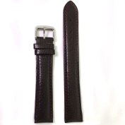 XXXL Watch Band Leather Padded Mens Black or Brown 18mm