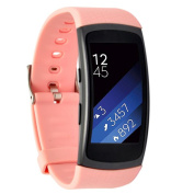 Moretek Silicone Replacement Band Strap for Samsung Gear Fit2 Tracker