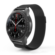TSV 22mm Metal Magnetic Milanese Watch Band Strap for Samsung Gear S3 R380 R381 R382