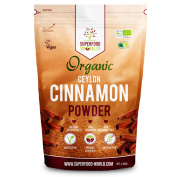 Organic True Ceylon Cinnamon Powder | Nature's Superfood Sweetener Packed with Powerful Antioxidants | Anti-Inflammatory & Supports Healthy Blood Sugar | Ideal for Cooking, Tea & Treats 300g