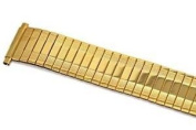 SPEIDEL 18-22MM XL GOLD TWIST O FLEX STRETCH METAL EXPANSION STRAP WATCH BAND