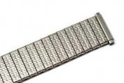 SPEIDEL 16-19MM XL SILVER TWIST O FLEX METAL EXPANSION STRAP WATCH BAND
