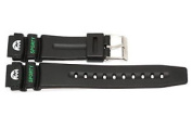 18MM BLACK THICK RUBBER SPORT WATCH BAND STRAP FITS ARMITRON